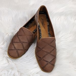 Lucky Brand Parkerr toffee brown leather flats